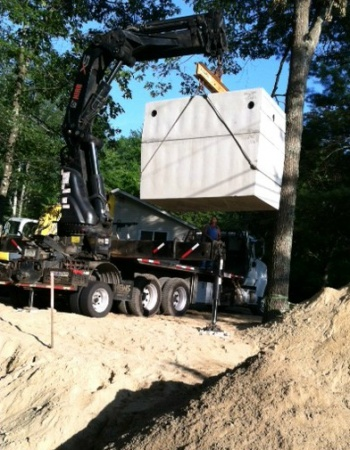Septic tank lowered put in ground